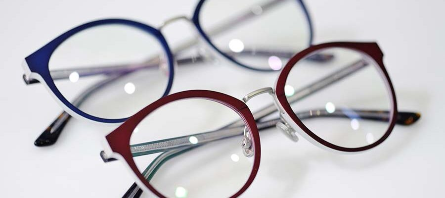 modern-fashionable-spectacles-on-white-background-PCUYJGY